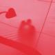 czerwone tło z sercem